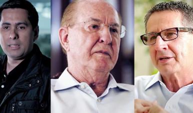 Na imagem, Flávio Augusto, Alair Martins e Elói D'Avila.