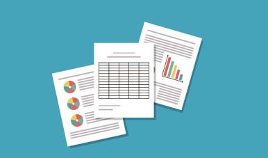 Na imagem está ilustrado papéis que simulam análises de qualidade realizadas.
